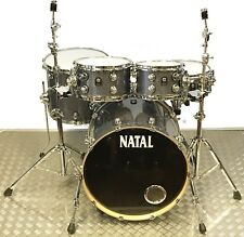 More details for natal ash series grey sparkle 5pce drum kit with hardware - sale!