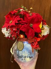 More details for thomas kinkade bringing holiday cheer floral centre piece w/ certificate