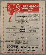 More details for southampton v sunderland fa cup 1947/48
