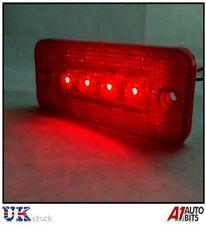 2 pcs 12v 12 VOLT RED MARKER TAIL REAR SIDE 4 LED LIGHT INDICATOR REFLECTOR NEW