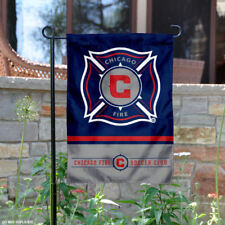 Chicago Fire Two Sided Garden Flag and Yard Banner