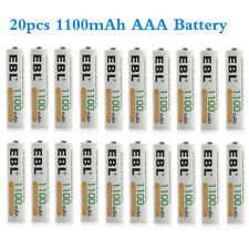 1100mAh AAA x20 EBL NiMH Rechargeable Battery + Case Cover for Camera Flashlight