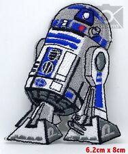 #584 Star Wars R2D2 Embroidered Patch Iron/ Sew on NEW Movies Sci-Fi Robot