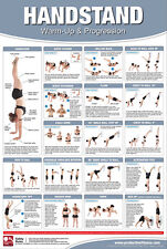 HANDSTAND WORKOUT Professional Fitness Instructional Wall Chart POSTER