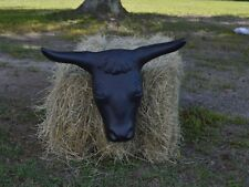 """Partrade Steer Head with Hay Bale Spikes - Two Metal 14"""" Rods Calf Roping"""