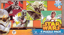 "Jigsaw Puzzle STAR WARS 12 pcs each 5"" x 4.5"" 4  Pack Cardinal S2"