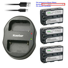 Kastar Battery Dual Charger for Sony NP-FM50 BCVM10 & Cyber-shot DSC-F828 DSC-R1
