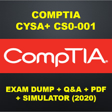 CompTIA CySA+ Cybersecurity Analyst CS0-001 Exam PDF QA & SIMs (2020)