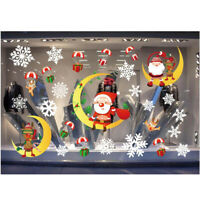Holiday Christmas Window Sticker Home Wall Snowflake Xmas Decor Decals Removable