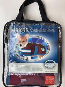 """NEW! Weatherbeeta Orican Reflective Dog Coat Port/Navy Waterproof 16"""" (40cm)"""