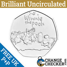 Naked Winnie The Pooh And Friends BU 50p 2021 Coin Brilliant Uncirculated