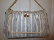 Authentic COACH LEGACY Weekend TICKING STRIPE PURSE Handbag Shoulder Bag 23468