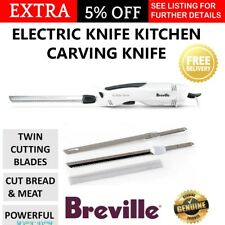 Breville Electric Cutting Knife Meat Roast Carving Knife Twin Blades Knives Cut