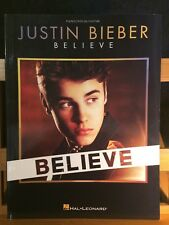 Justin Bieber Believe chant-piano accords songbook partition Hal Léonard