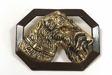 Airedale Terrier Collectible Button Pin Metal 1940 Dog Pins Collectible