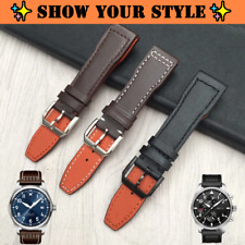 MARKO 20mm 21mm Calf Leather Watch Strap w/Logo For IWC Pilot Mark XVIII (New)
