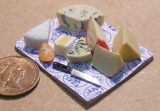 1:12 Scale Cheese On A Board Dolls House Miniature Delicatessen Food Shop Medium