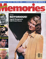 Memories The Magazine of Then and Now Feb/March 1989 Ingrid Bergman EX 012016jhe
