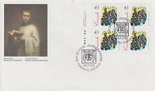 CANADA #1533 43¢ CHRISTMAS CAROLLING LL INSCRIPTION BLOCK FIRST DAY COVER