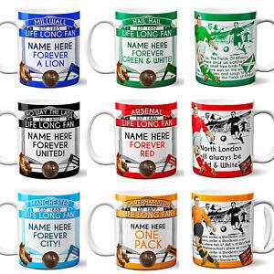 SUNDERLAND themed MUG ≈ personalised football shirt style mugs any name /& number