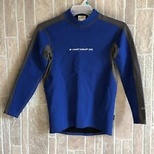 NRS Youth L HydroSkin G2 Titanium Blue Gray Neoprene Short Sleaved Wetsuit Top