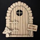Wooden Fairy Elf Door Shape Blank Craft Kit Plus Accessories