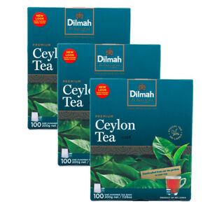 Dilmah Premium Single Origin 100% Pure Ceylon Tea - 100 Bags x 03 packs
