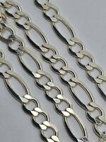 """Sterling silver chain 22""""  figaro chain sterling silver  925 #Z412."""