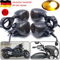 4x39mm LED Motorrad Blinker Blinklicht Lampe Gabel E11 für Harley Bobber Chooper