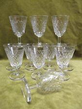 11 verres à vin blanc cristal saint Louis Tacite? (crystal wine glasses)
