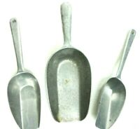 Vintage Lot of 3 Aluminum Kitchen Scoops Made in Germany