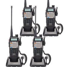 4 Pack Baofeng Uv-5Xp 8W/5W/1W Dual-band Long Range Walkie Talkie Free Earphone