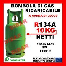 BOMBOLA DI GAS REFRIGERANTE R134A DA 10KG RICARICABILE SENZA RESO DEL VUOTO
