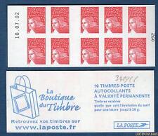 Carnet - 3419 C6 - 10.07.02 Haut -Type Marianne du 14 Juillet RF - TVP rouge N°