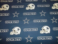 "DALLAS COWBOYS   36"" X  58""   WIDE 100%  COTTON   DESIGN  BLUE 1  YARD  PIECE"