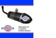 SILENZIATORE TERMINALE SCALVINI RACING HUSQVARNA SM 125 2003 2011 CARBONIO
