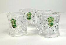 4 Vintage Waterford Crystal Comeragh Napkin Rings Irland Mint Condition
