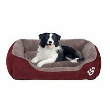 Utotol Warming Dog Beds, Rectangle Washable Pet Bed with Firm Breathable Cotton