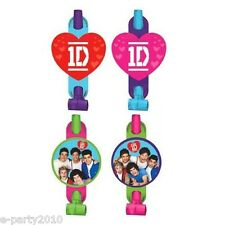 ONE DIRECTIONS BLOWOUTS (8) ~ Birthday Party Supplies Favors 1D Band Pink Red