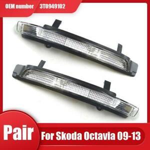 For Skoda Octavia/Superb 2009-13 Turn Signal Mirror LED Indicator Light LH+RH