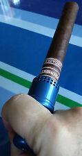 Cigar Cannon Premium Cigar Holder Blue Smoking Mouthpiece Not a Lighter Cohiba