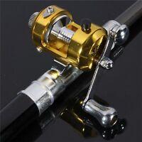 NEW Mini Portable Pocket Fish Pen Shape Aluminum Alloy Fishing Reel Rod Pole