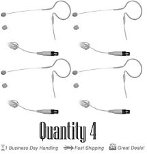 QTY 4 Pyle PMEMS10 In Ear Mini XLR Omni-Directional Microphone For Shure System