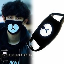 Hot Kpop Exo Members Black Cotton Bear Chan Yeol Same Style Face Mouth Mask