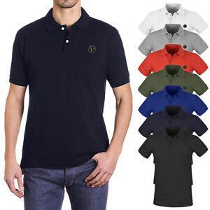 Polo Uomo Cotone Maglietta Maglia Mezza Manica Corta T-Shirt Casual VEQUE