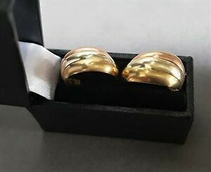 9CT ROSE YELLOW & WHITE GOLD STUD EARRINGS.   ref:xcod