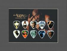 Tupac Matted Picture Guitar Pick Set Limited to 100 Rapper Rap California Love