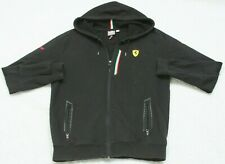 Medium Puma Black Hooded Sweatshirt Top Cotton Polyester Men's Man's Long Sleeve