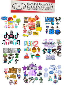 ANY THEME PERSONALISED PRECUT EDIBLE CAKE TOPPERS - ICING OR WAFER CARD