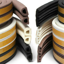 10M Draught Draft Excluder Self Adhesive Rubber Door Seal Tape P Shape UKED